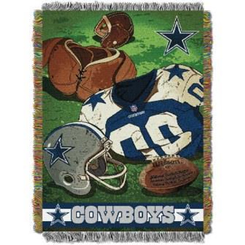 Dallas Cowboys Vintage Woven Tapestry Throw Blanket