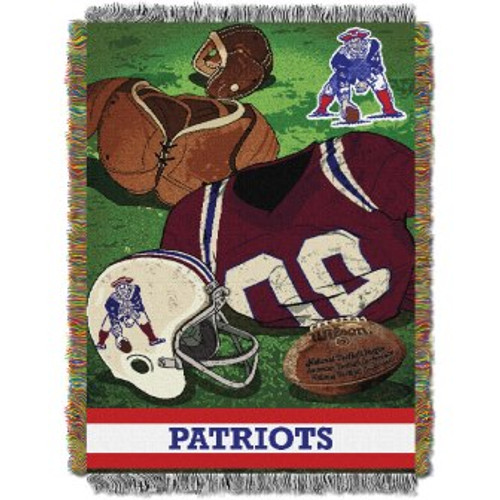 New England Patriots Vintage Woven Tapestry Throw Blanket