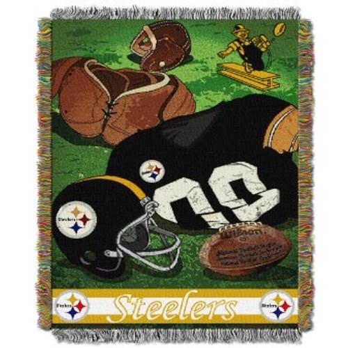 Pittsburgh Steelers Vintage Woven Tapestry Throw Blanket