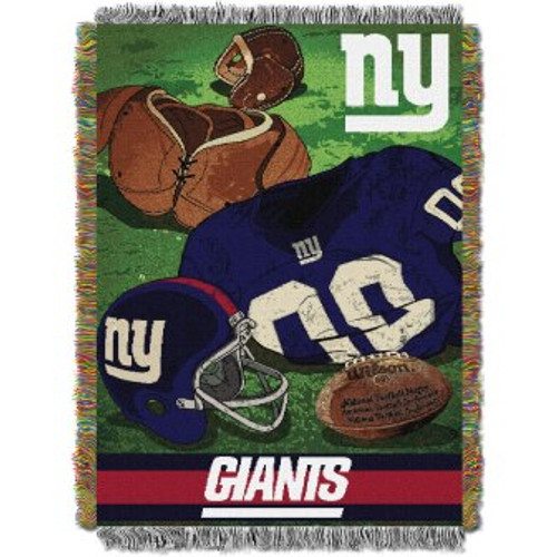 New York Giants Vintage Woven Tapestry Throw Blanket