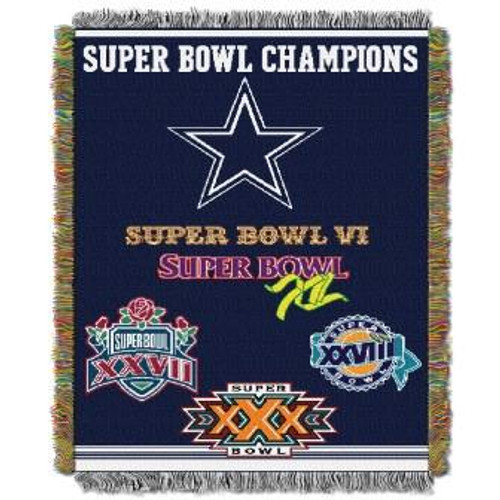 Dallas Cowboys Commemorative Woven Tapestry Throw Blanket