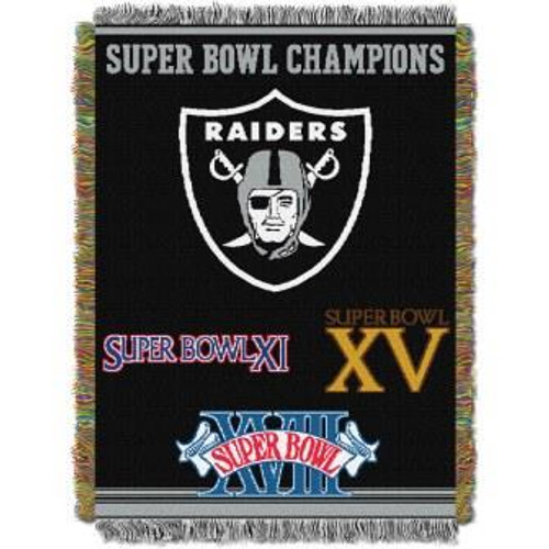 Las Vegas Raiders Commemorative Woven Tapestry Throw Blanket