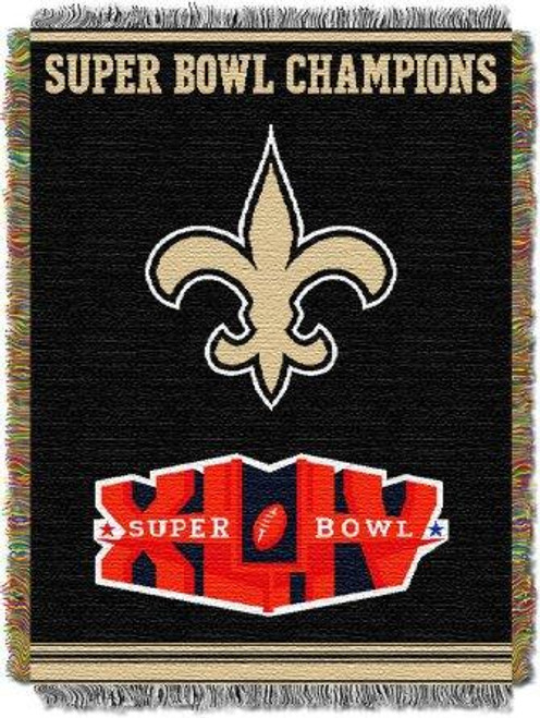 New Orleans Saints Commemorative Woven Tapestry Throw Blanket