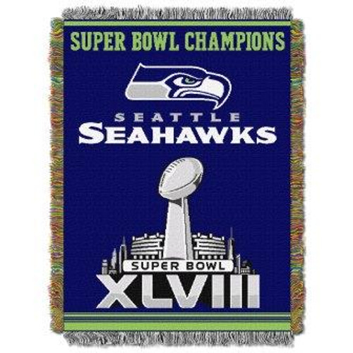 Seattle Seahawks Commemorative Woven Tapestry Throw Blanket