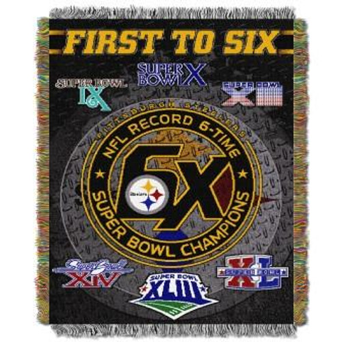 Pittsburgh Steelers Commemorative Woven Tapestry Throw Blanket