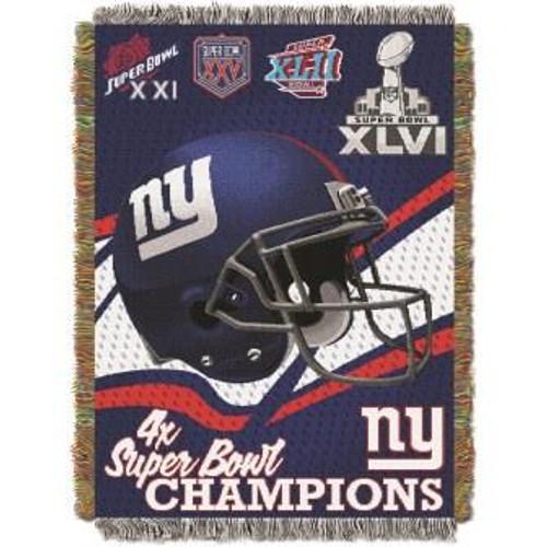 New York Giants Commemorative Woven Tapestry Throw Blanket