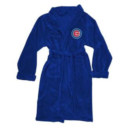 Chicago Cubs Mens Silk Touch Navy Bath Robe