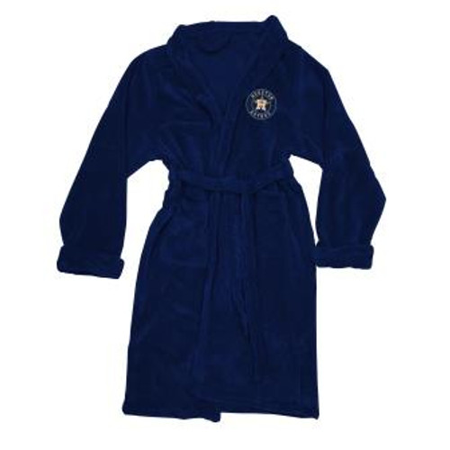 Houston Astros Mens Silk Touch Navy Bath Robe