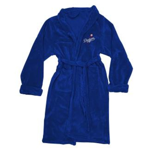 Los Angeles Dodgers Mens Silk Touch Navy Bath Robe