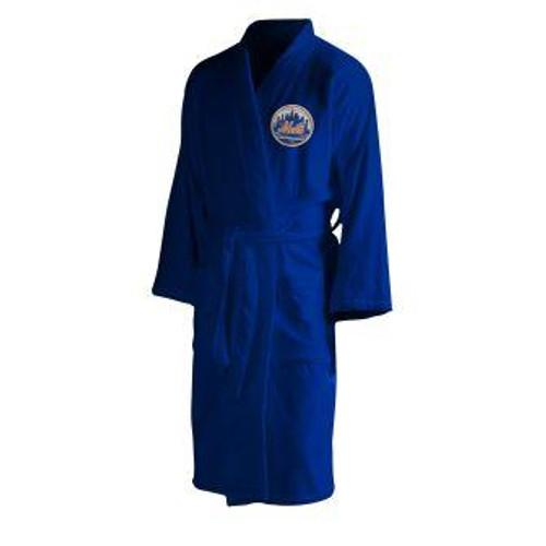 New York Mets Mens Silk Touch Navy Bath Robe