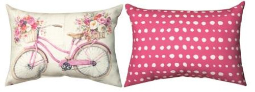 Obviously Pink Bicycle Pillow