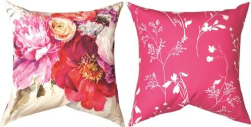 Obviously Pink Floral Pillow