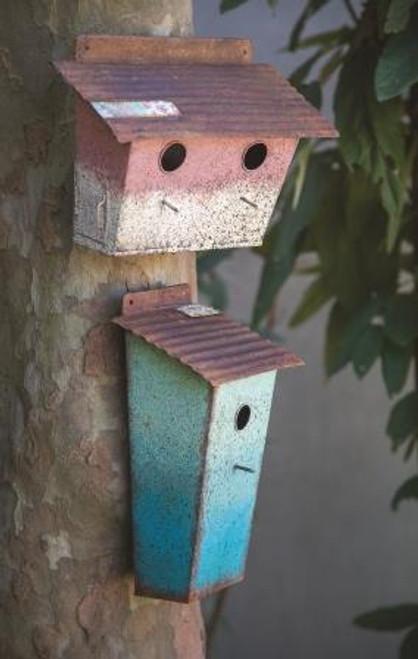 Metal Birdhouse Turquoise