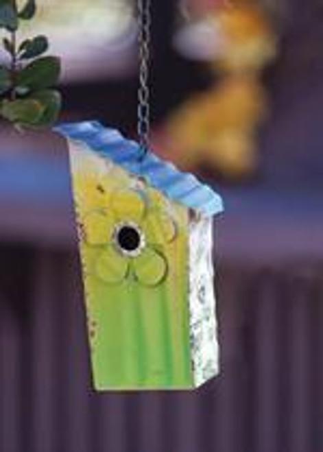 Corrugated Metal Birdhouse Flower
