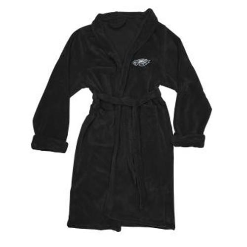 Philadelphia Eagles Mens Silk Touch Black Bath Robe