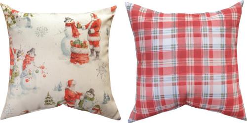 Welcoming Santa 18 x 18 Reversible Pillow