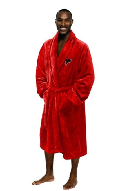 Atlanta Falcons Mens Silk Touch Red Bath Robe