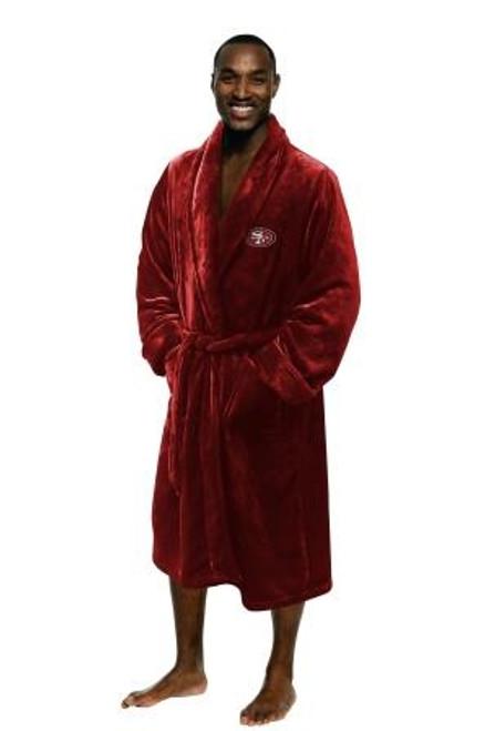 San Francisco 49ers Mens Silk Touch Red Bath Robe