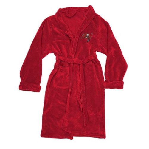 Tampa Bay Buccaneers Mens Silk Touch Red Bath Robe