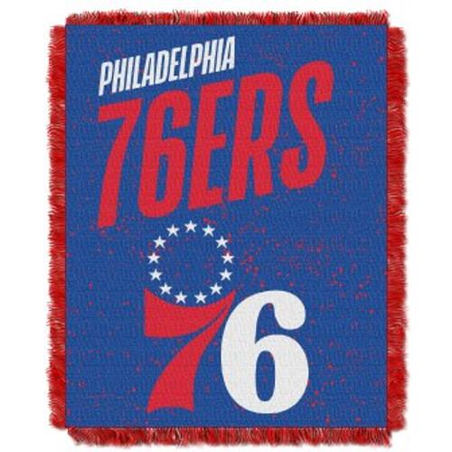 Philadelphia 76ers Headliner Woven Tapestry Throw Blanket