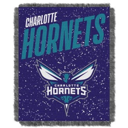 Charlotte Hornets Headliner Woven Tapestry Throw Blanket