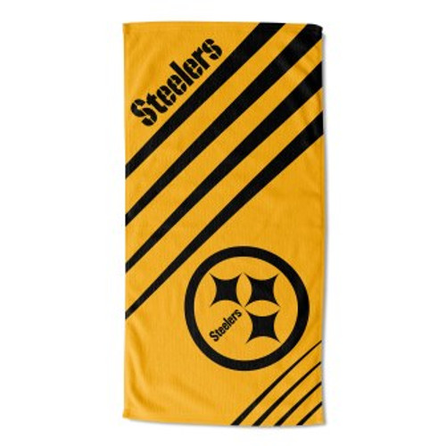 Pittsburgh Steelers 36x72 Upward Beach Towel Mat