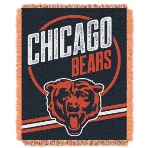 Chicago Bears Read Option Woven Tapestry Throw Blanket