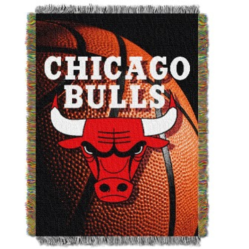 Chicago Bulls Photo Real Woven Tapestry Throw Blanket