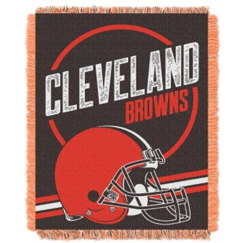 Cleveland Browns Read Option Woven Tapestry Throw Blanket