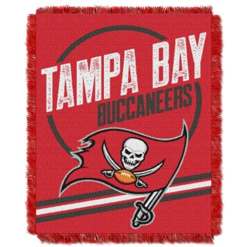 Tampa Bay Buccaneers Read Option Woven Tapestry Throw Blanket