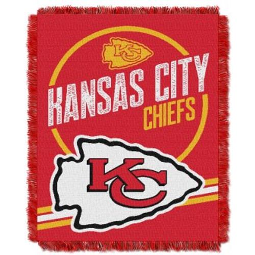 Kansas City Chiefs Read Option Woven Tapestry Throw Blanket