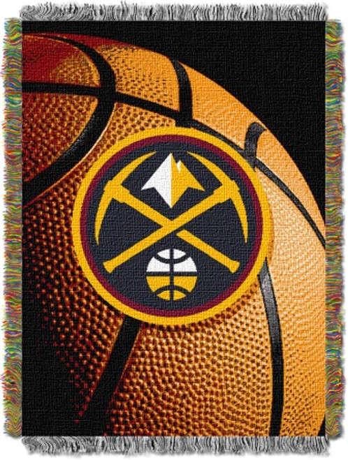 Denver Nuggets Photo Real Woven Tapestry Throw Blanket