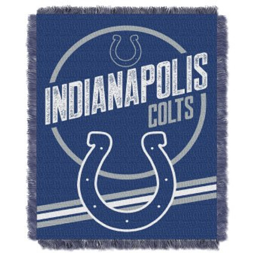 Indianapolis Colts Read Option Woven Tapestry Throw Blanket