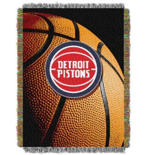Detroit Pistons Photo Real Woven Tapestry Throw Blanket