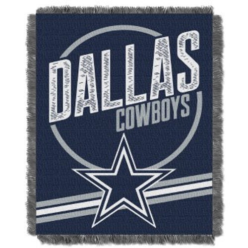 Dallas Cowboys Read Option Woven Tapestry Throw Blanket