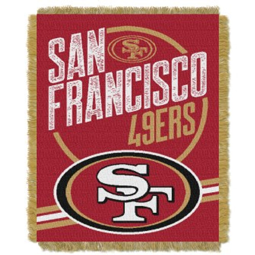 San Francisco 49ers Read Option Woven Tapestry Throw Blanket