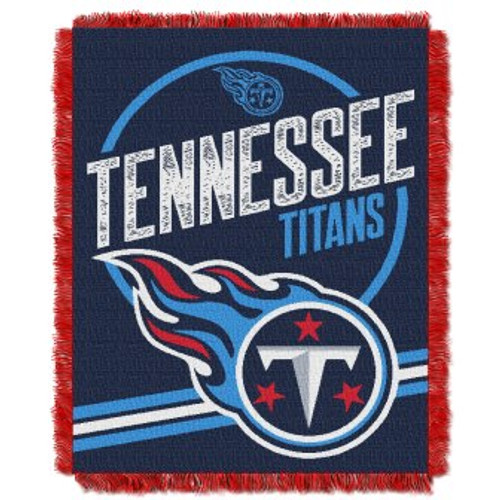 Tennessee Titans Read Option Woven Tapestry Throw Blanket