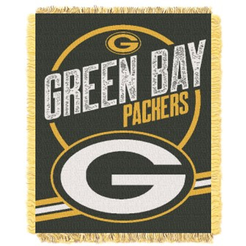 Green Bay Packers Read Option Woven Tapestry Throw Blanket