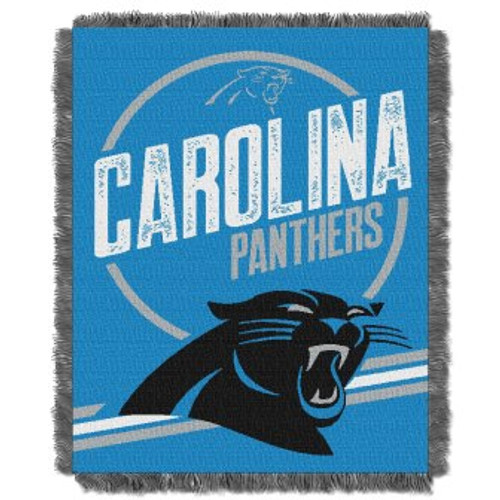 Carolina Panthers Read Option Woven Tapestry Throw Blanket