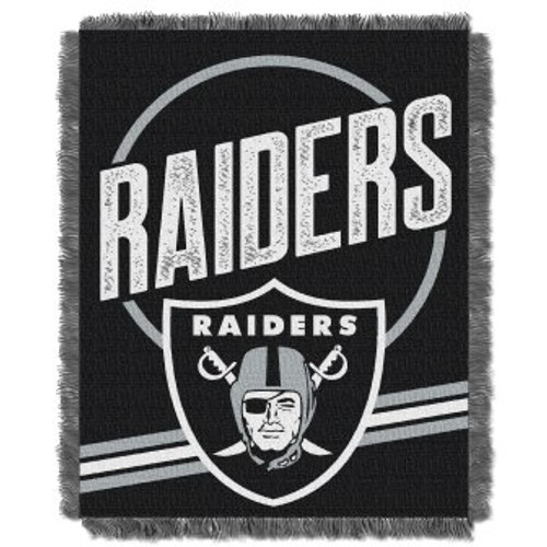 Oakland Raiders Read Option Woven Tapestry Throw Blanket