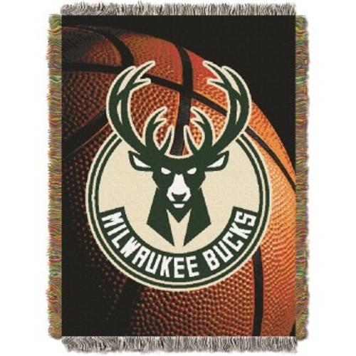Milwaukee Bucks Photo Real Woven Tapestry Throw Blanket