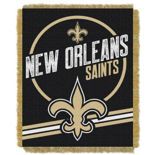 New Orleans Saints Read Option Woven Tapestry Throw Blanket