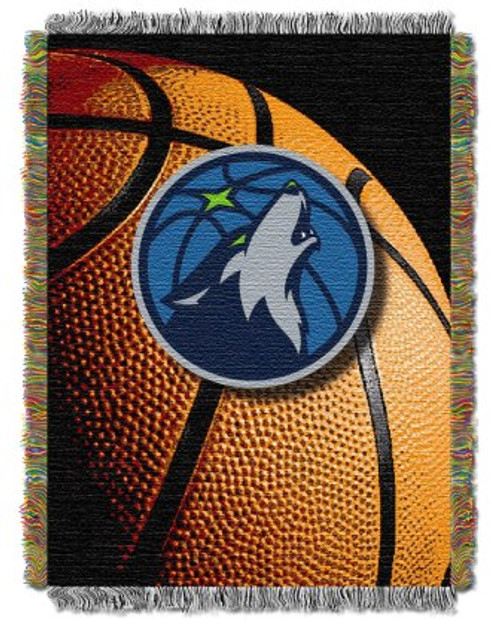 Minnesota Timberwolves Photo Real Woven Tapestry Throw Blanket