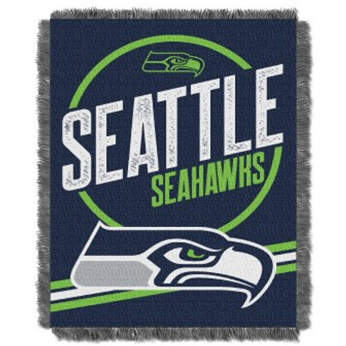 Seattle Seahawks Read Option Woven Tapestry Throw Blanket