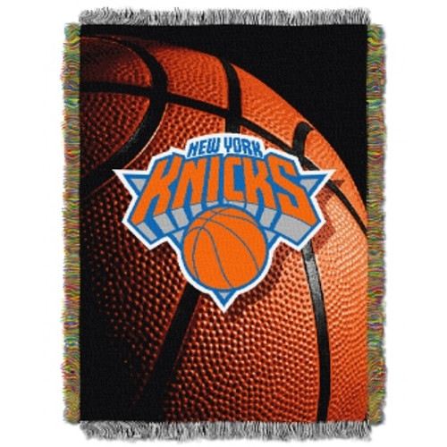 New York Knicks Photo Real Woven Tapestry Throw Blanket