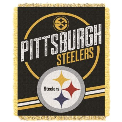Pittsburgh Steelers Read Option Woven Tapestry Throw Blanket