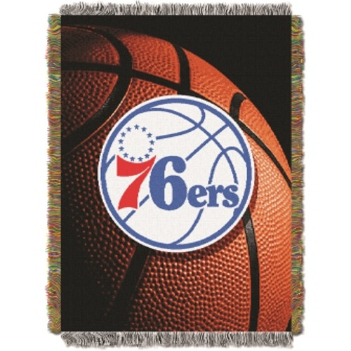 Philadelphia 76ers Photo Real Woven Tapestry Throw Blanket