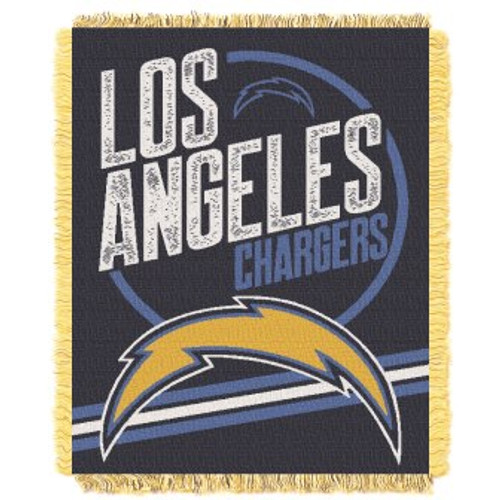 Los Angeles Chargers Read Option Woven Tapestry Throw Blanket