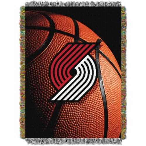 Portland Trail Blazers Photo Real Woven Tapestry Throw Blanket