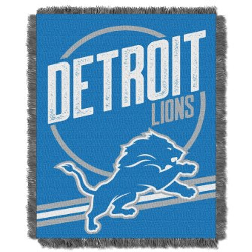 Detroit Lions Read Option Woven Tapestry Throw Blanket